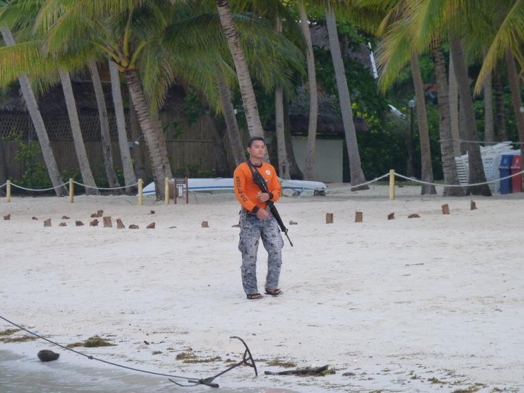 Security on the beach.